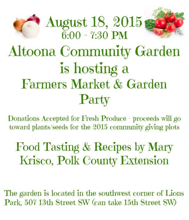 Community Garden Farmers Market
