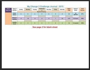 Change 3 Challenge Pledge Form